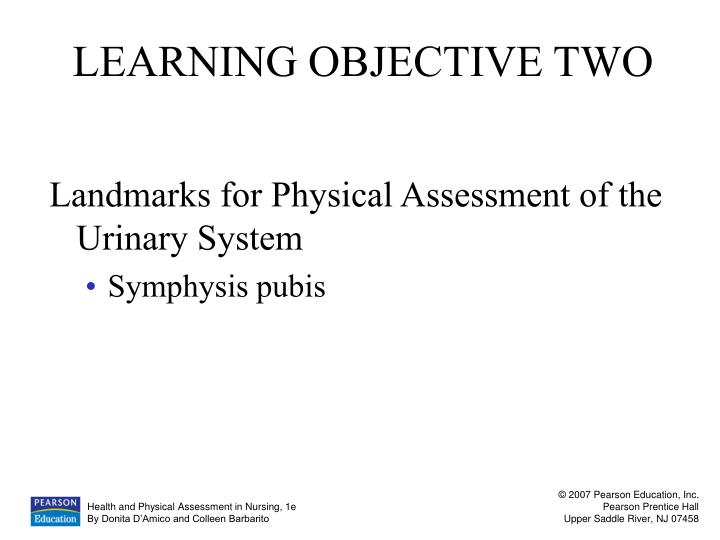 LEARNING OBJECTIVE TWO