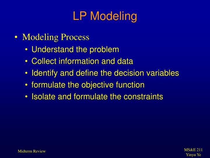 LP Modeling