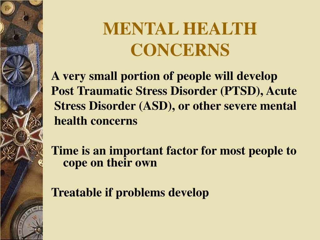 MENTAL HEALTH CONCERNS