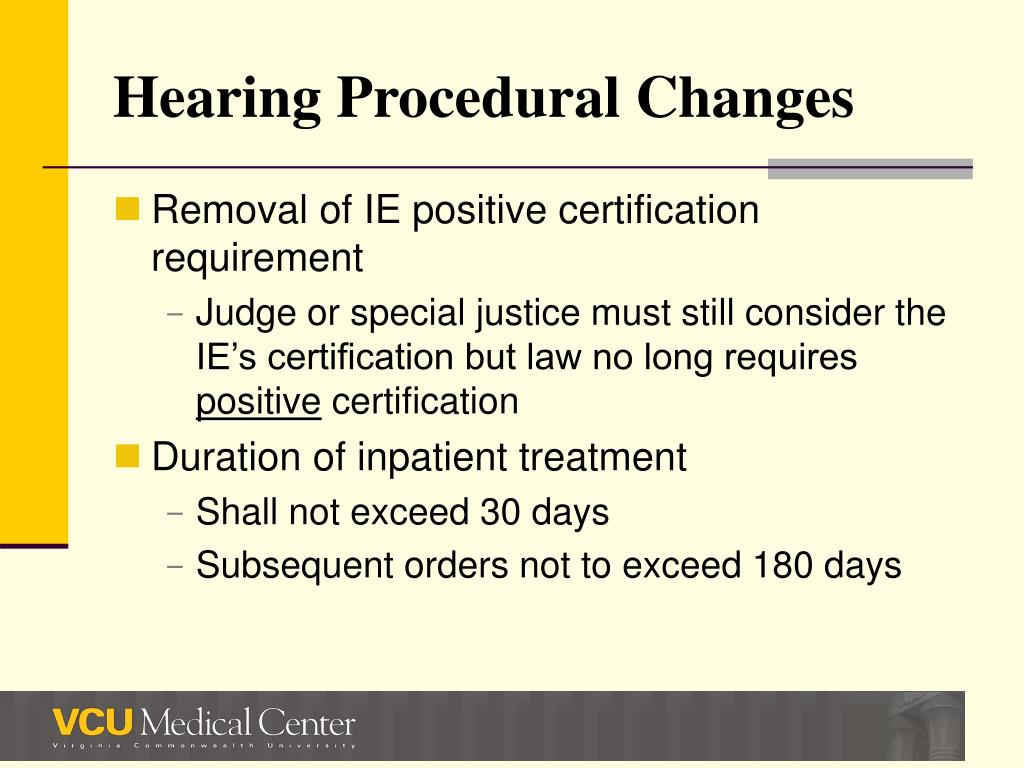 Hearing Procedural Changes