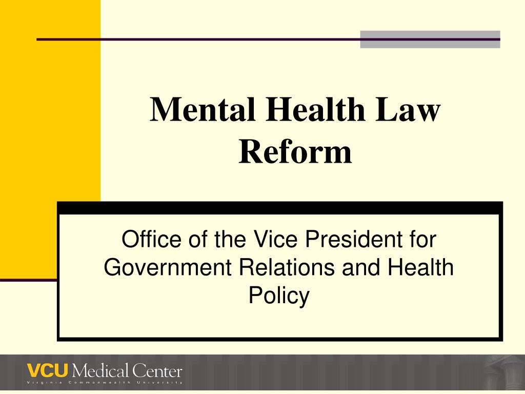 mental health law reform