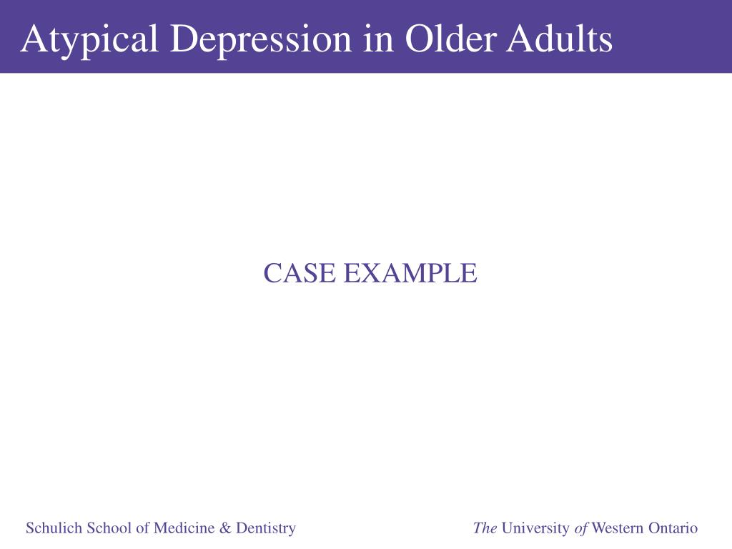 Atypical Depression in Older Adults