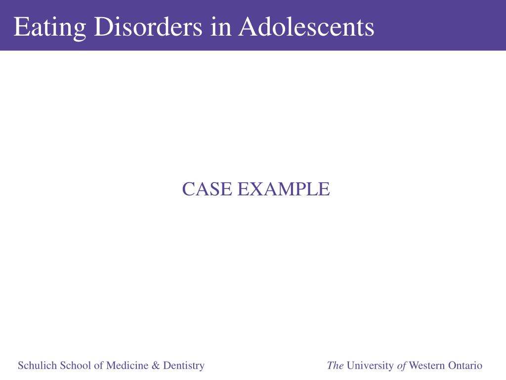 Eating Disorders in Adolescents