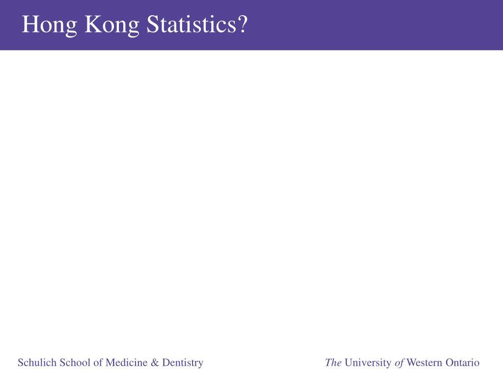Hong Kong Statistics?