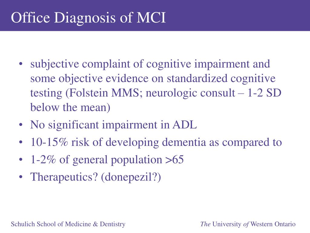 Office Diagnosis of MCI