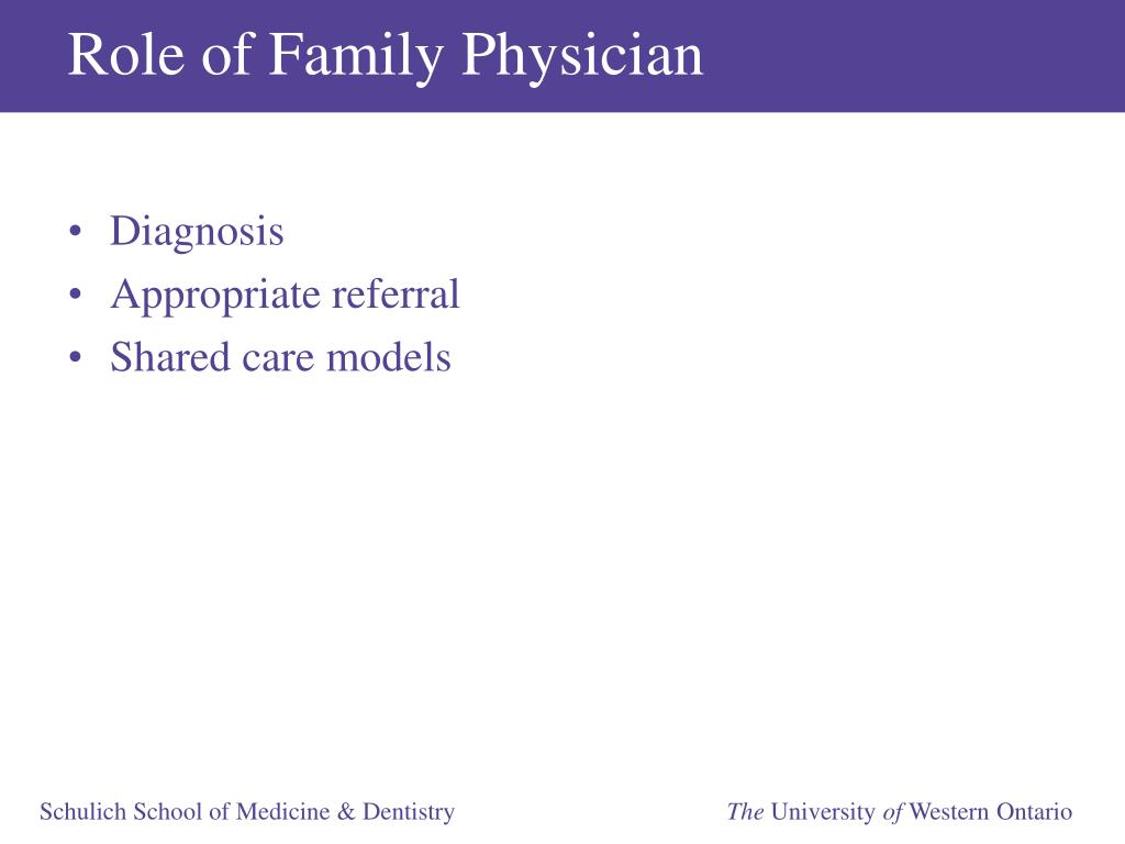 Role of Family Physician