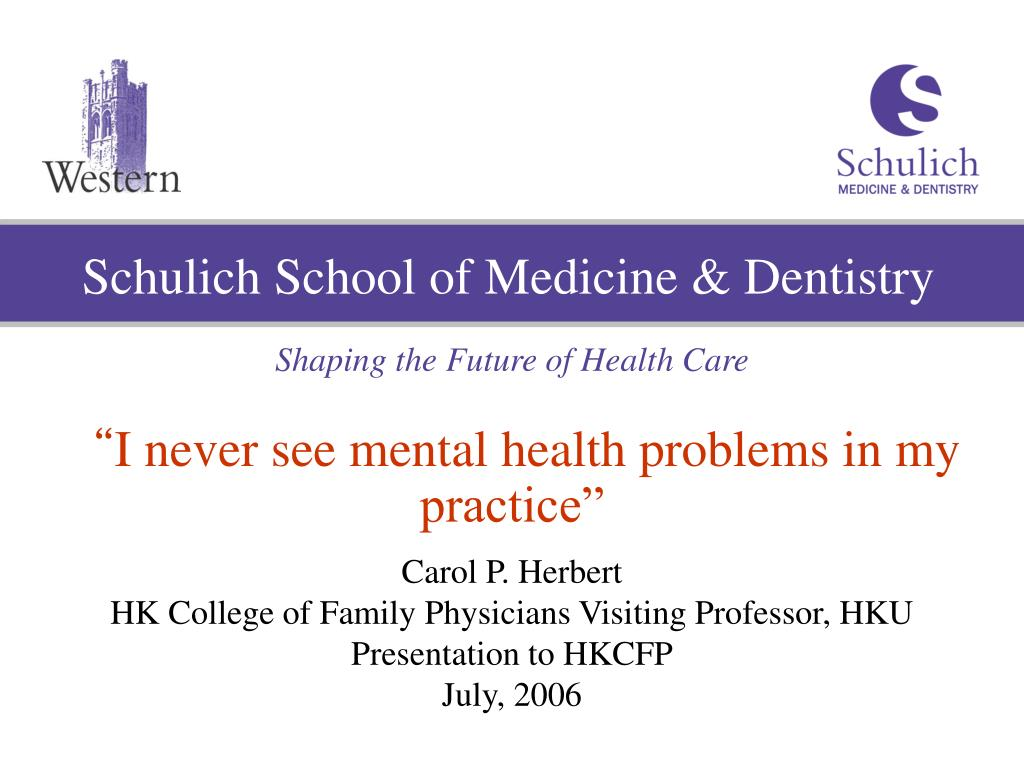 Schulich School of Medicine & Dentistry