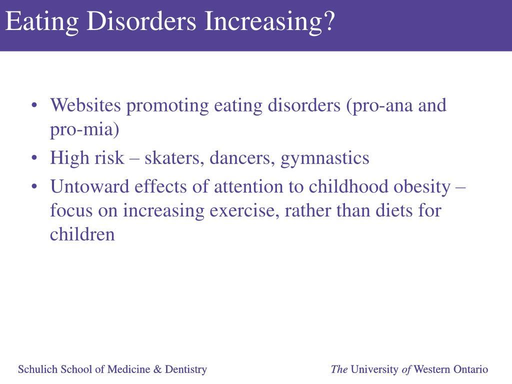 Eating Disorders Increasing?