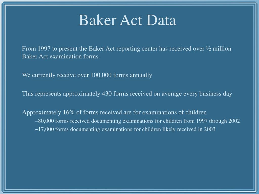Baker Act Data