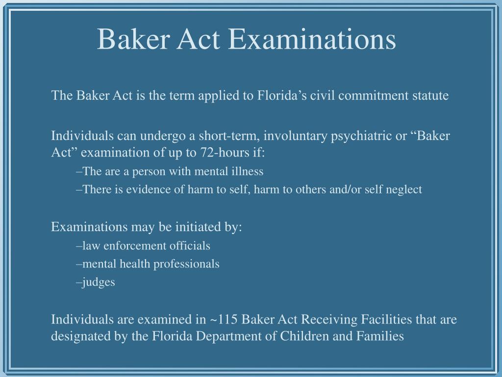 Baker Act Examinations