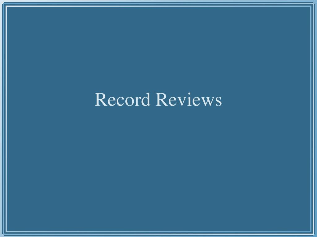 Record Reviews
