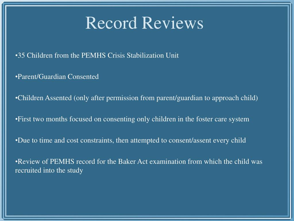 35 Children from the PEMHS Crisis Stabilization Unit