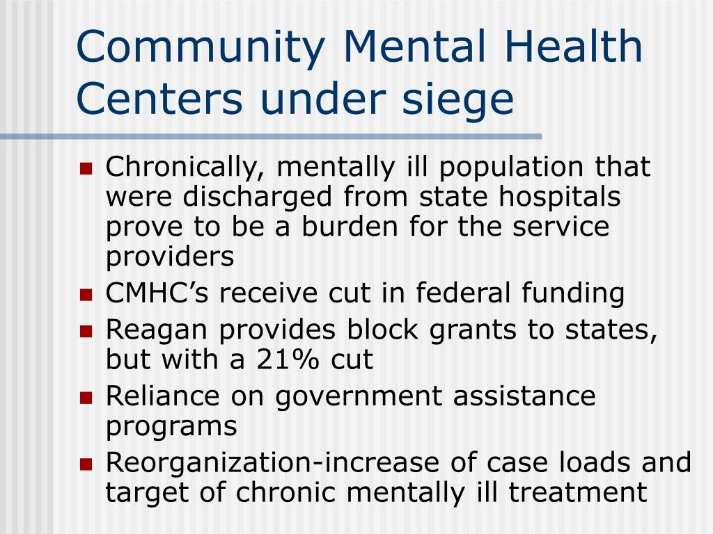 Community Mental Health Centers under siege