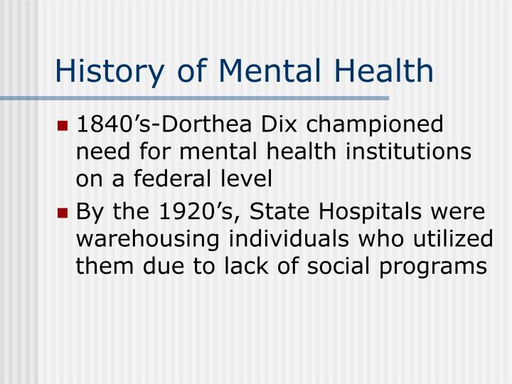 History of mental health l.jpg