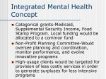 integrated mental health concept