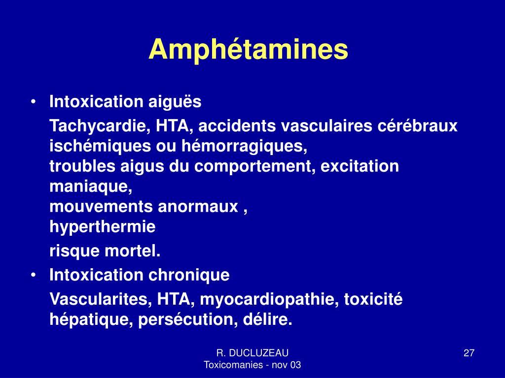 Amphétamines