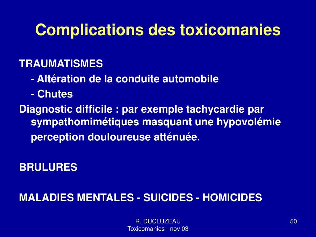 Complications des toxicomanies