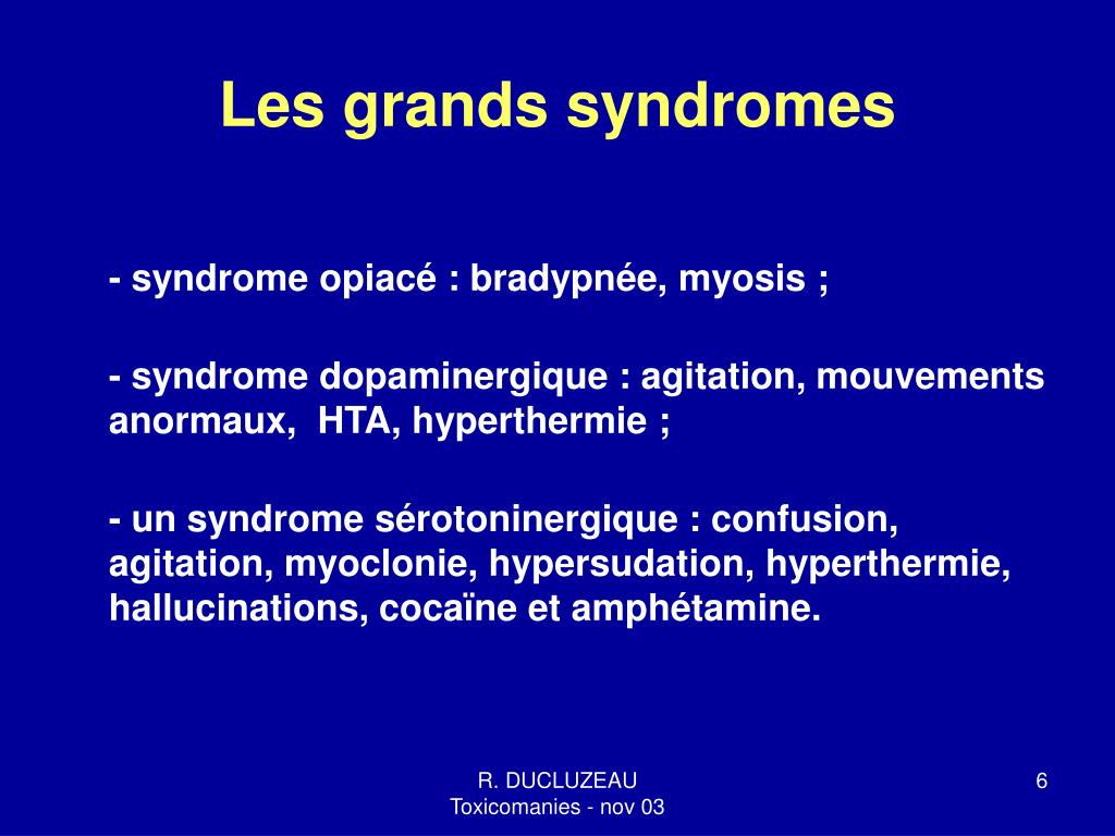 Les grands syndromes