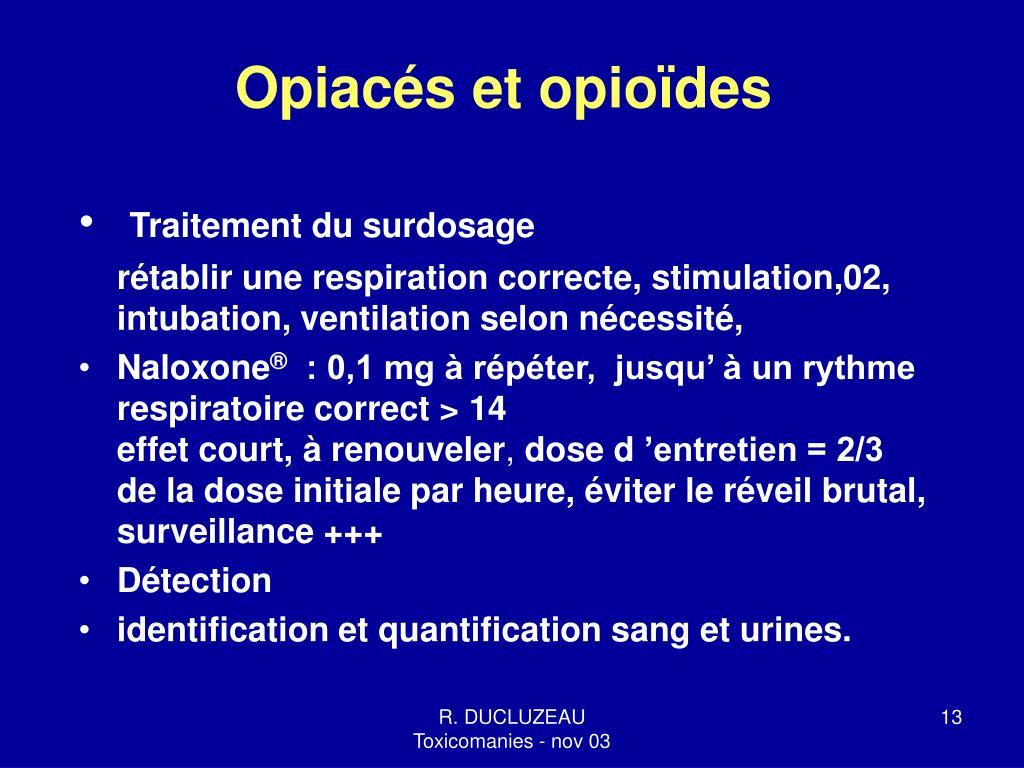 Opiacés et opioïdes