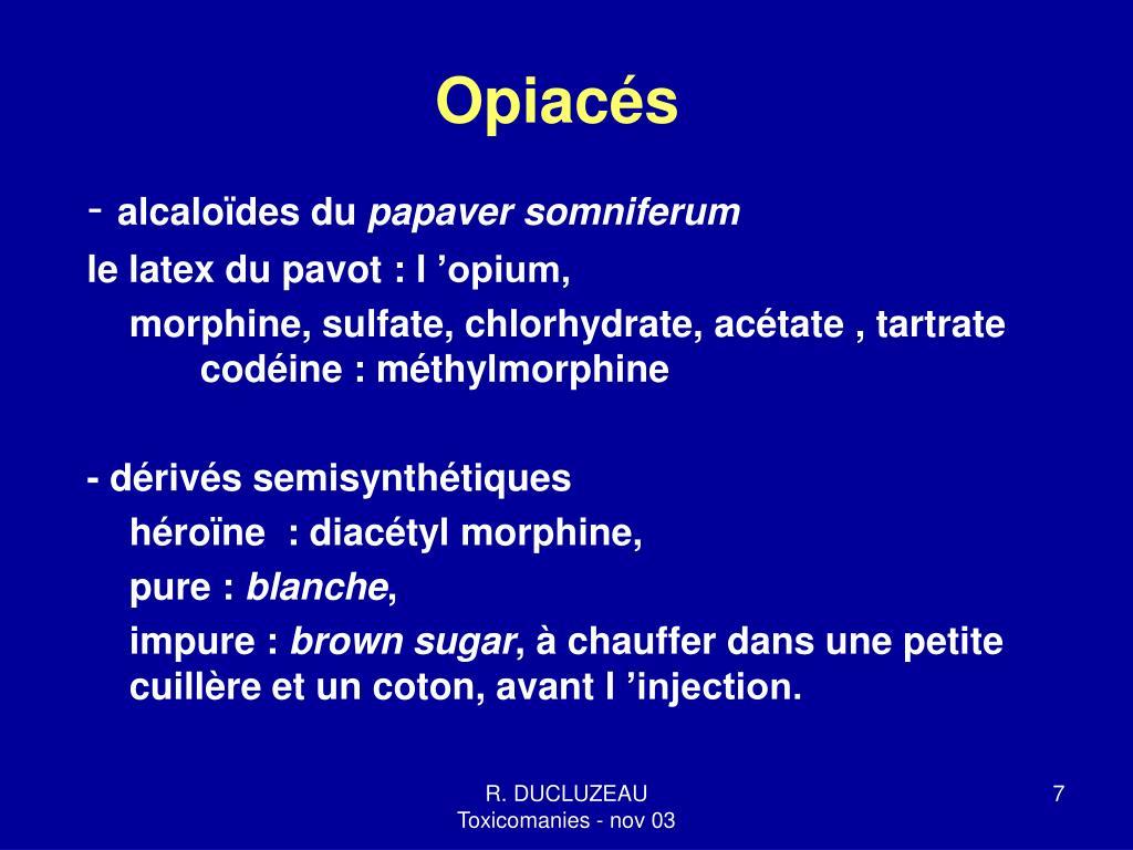 Opiacés