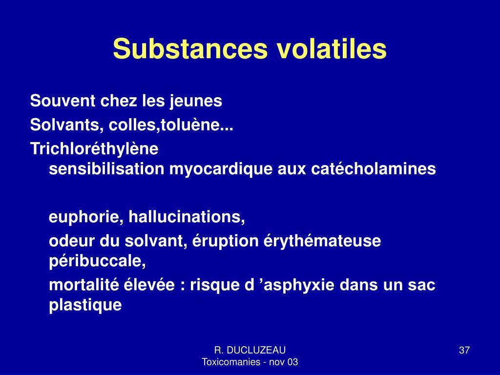 Substances volatiles