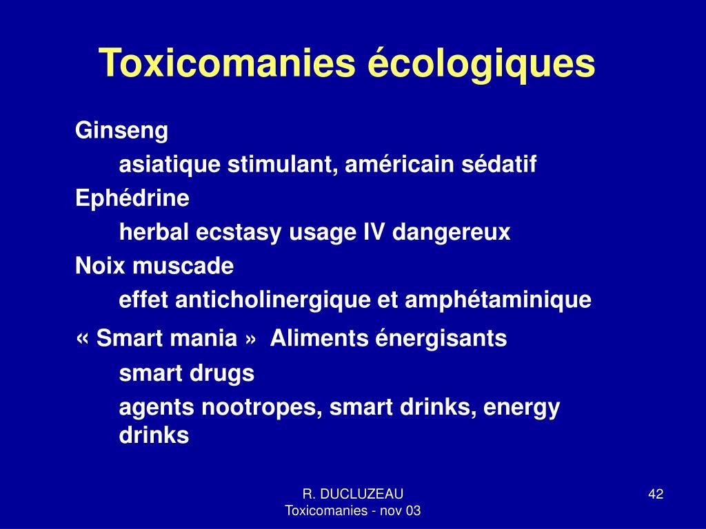 Toxicomanies écologiques