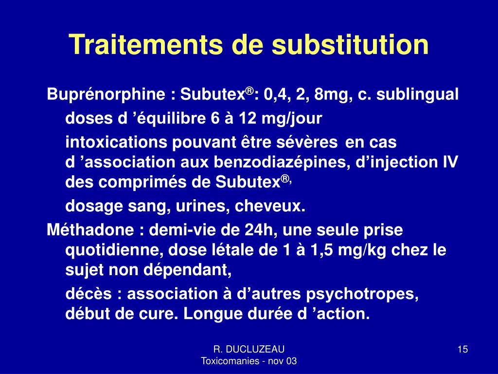 Traitements de substitution