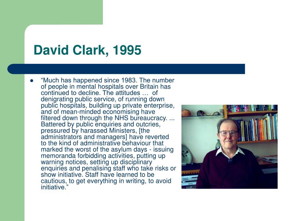 David Clark, 1995