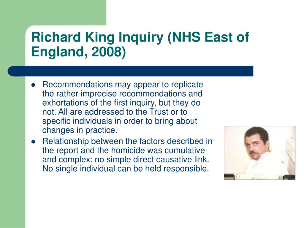 Richard King Inquiry (NHS East of England, 2008)