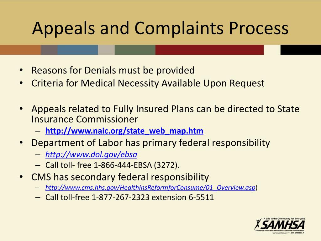 Appeals and Complaints Process