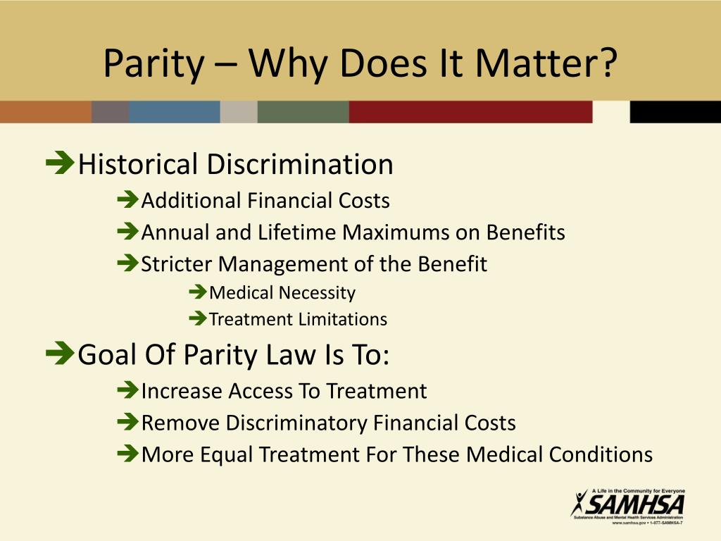 Parity – Why Does It Matter?