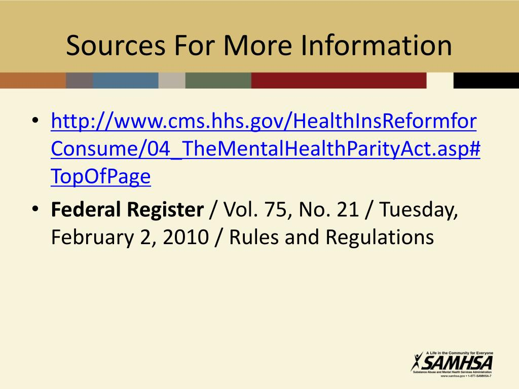 Sources For More Information