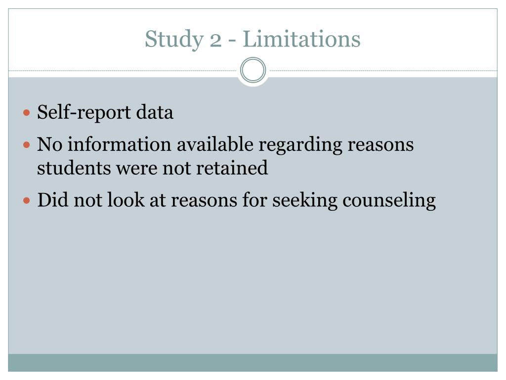 Study 2 - Limitations