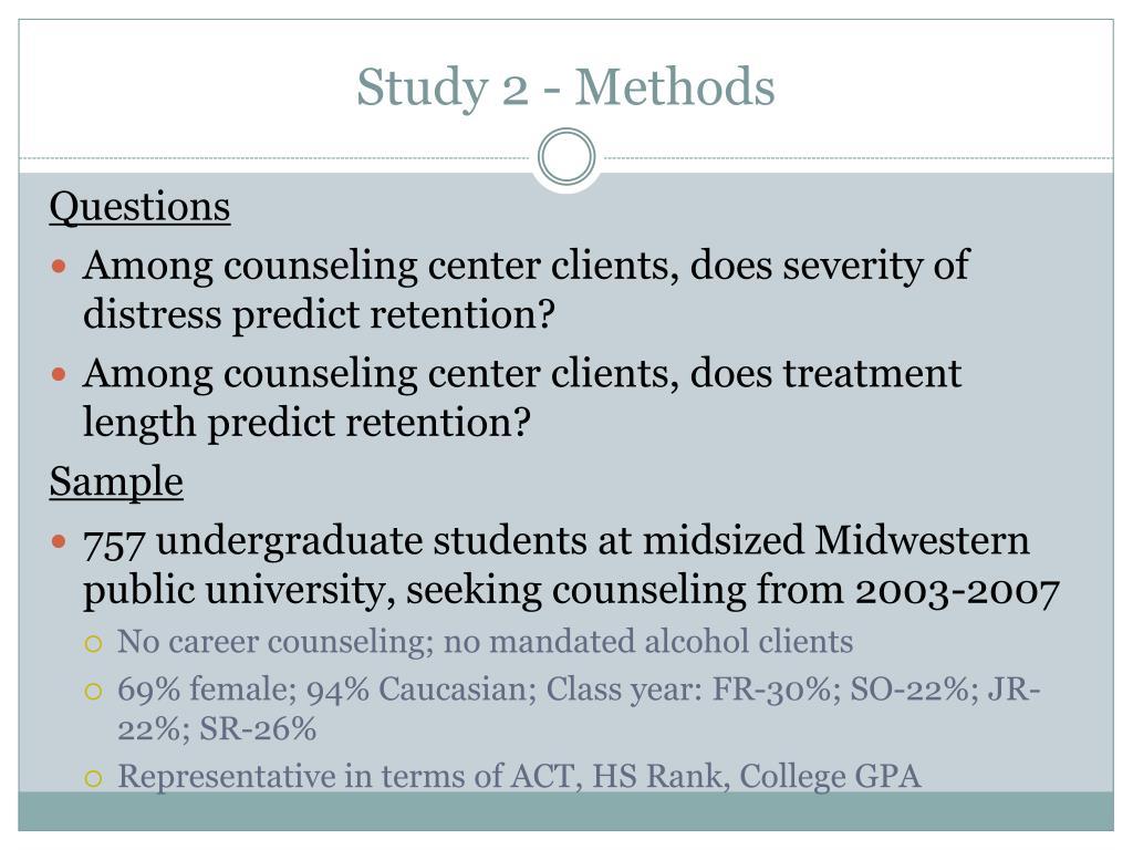 Study 2 - Methods