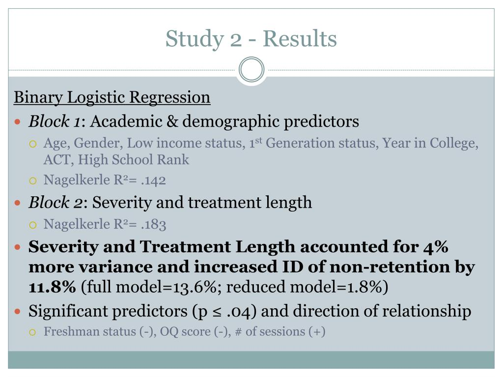 Study 2 - Results