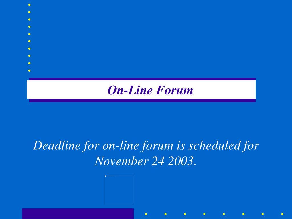 On-Line Forum
