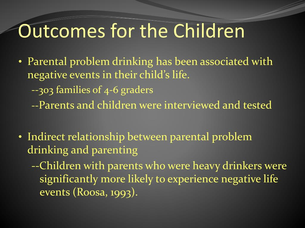 Outcomes for the Children