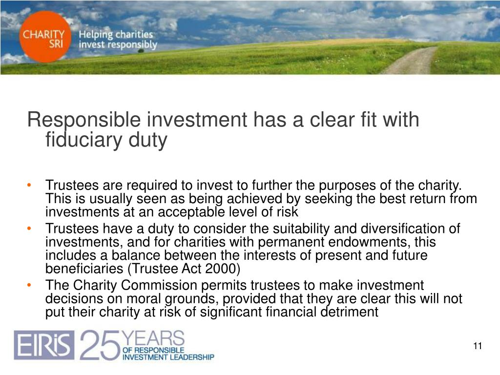 Responsible investment has a clear fit with fiduciary duty