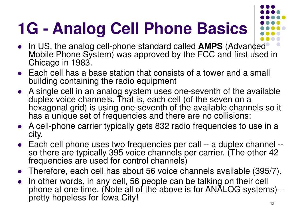 1G - Analog Cell Phone Basics