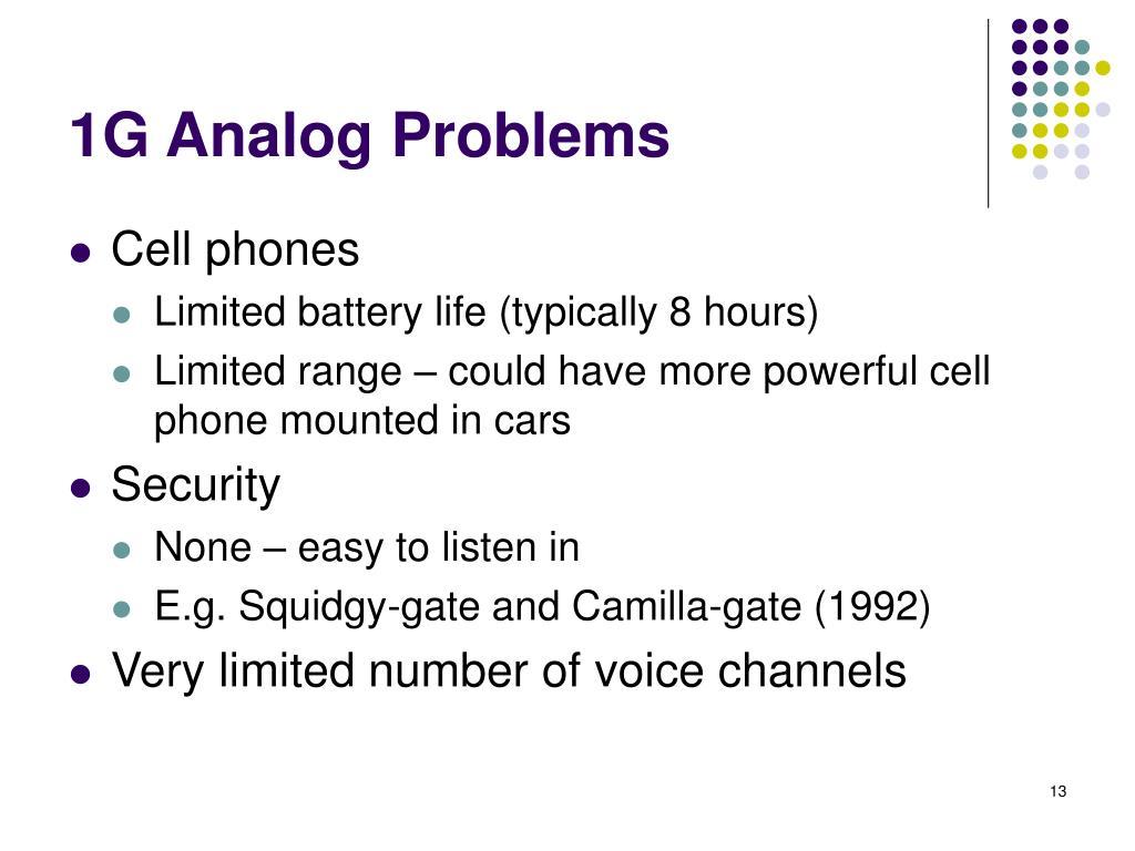 1G Analog Problems
