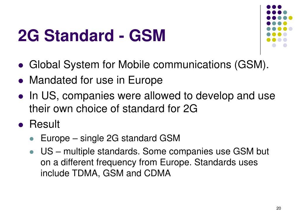 2G Standard - GSM