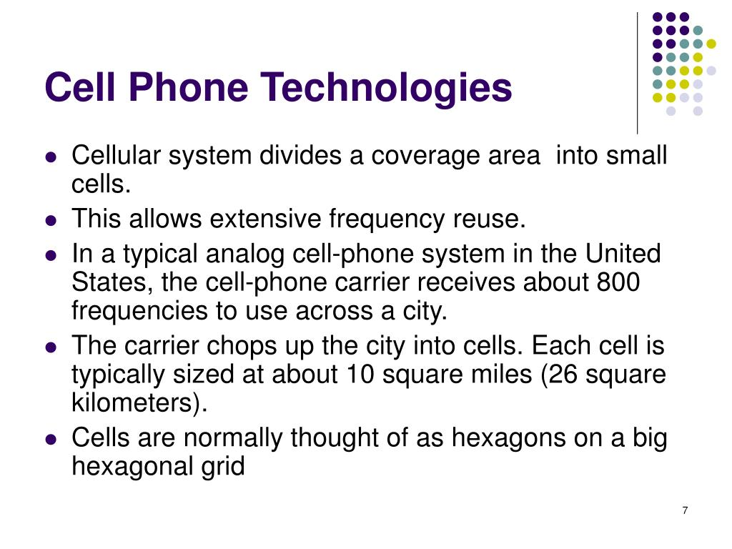 Cell Phone Technologies