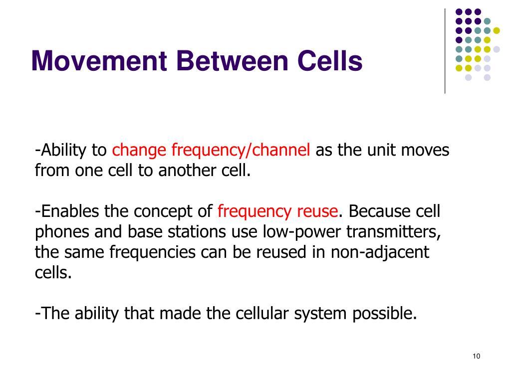 Movement Between Cells