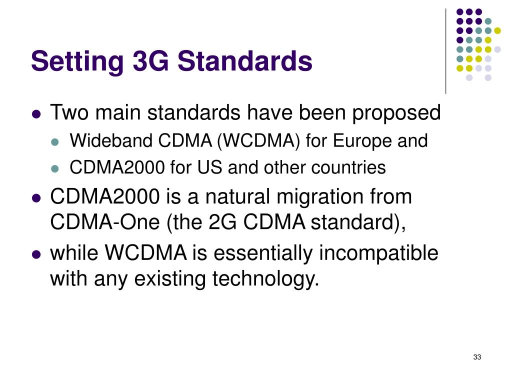 Setting 3G Standards