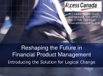 reshaping the future in financial product management