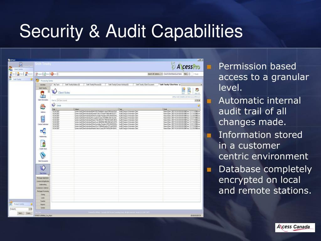 Security & Audit Capabilities