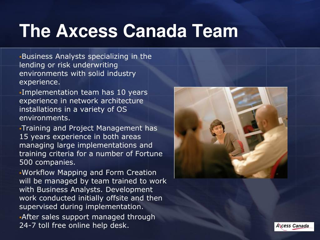 The Axcess Canada Team