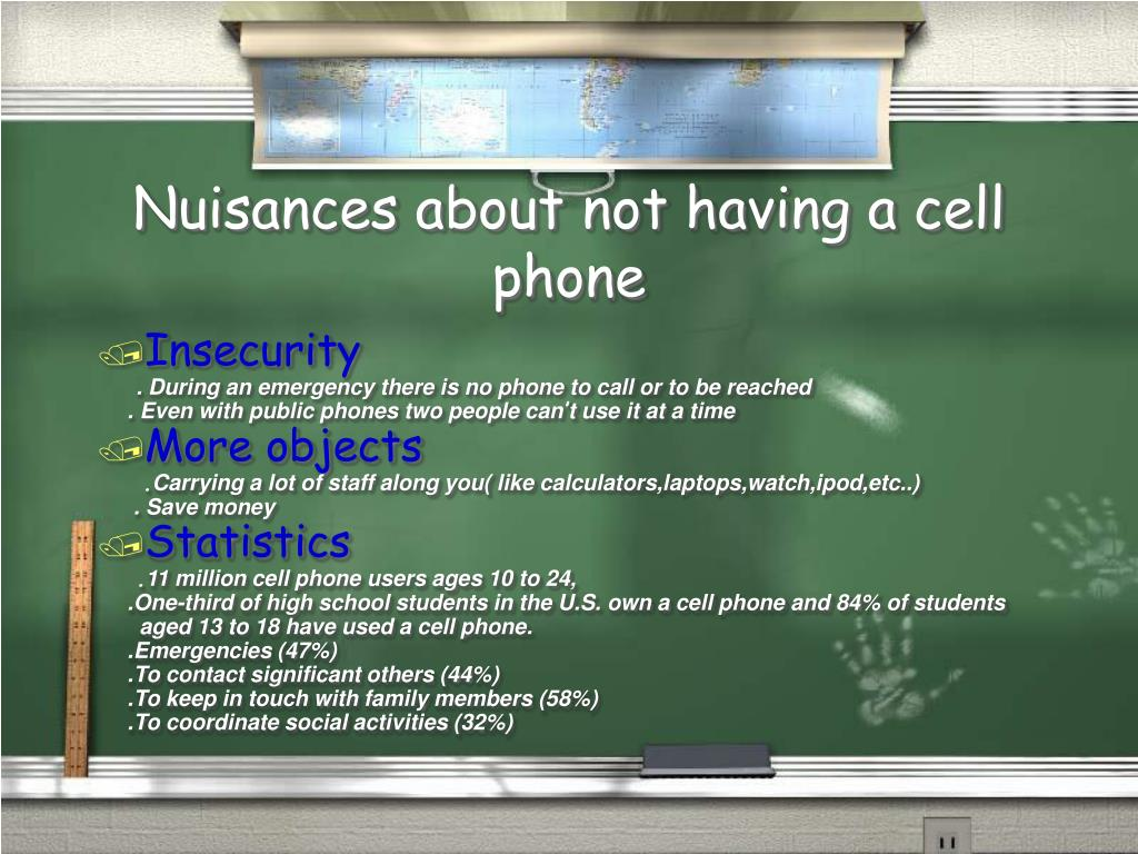 Nuisances about not having a cell phone