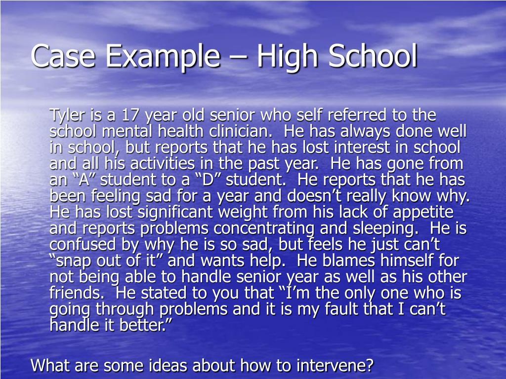 Case Example – High School