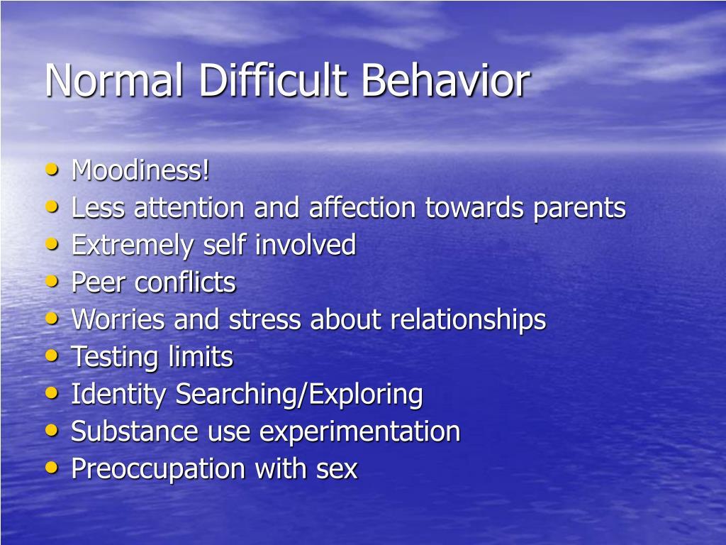 Normal Difficult Behavior
